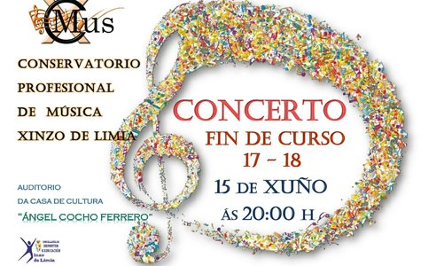 Cartel do concerto de Fin de curso