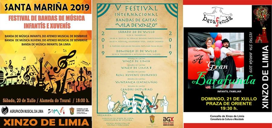 Programa cultural do sábado e domingo